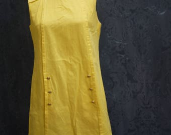 "1960s Lemon ""Donna"" Shift Dress"