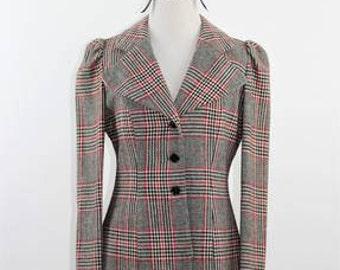 CHARM OF HOLLYWOOD - Vintage Plaid Blazer