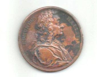 "1744 - EDMUNDUS HALLEY,  English GEOPHYSICIST, Meteorologist... - ""Astonomus Regis Magnae Britanniae"" - Genuine medal - very good condition"