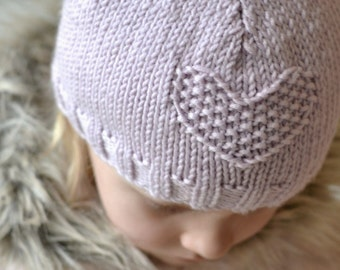 EASY hat KNITTING PATTERN Fay girls through to adult