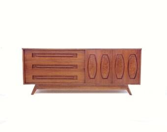 Vintage Mid Century Lowboy In Wood