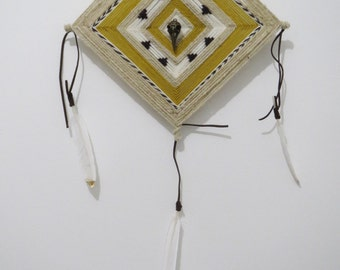 Simple Traditions, a 12 inch Ojo de Dios, in stock by S. Herbert