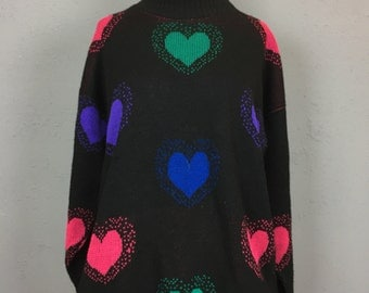 Hearts on Hearts Turtleneck Sweater