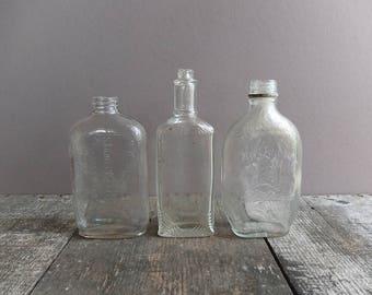 Vintage Glass Bottle - 1 /  Antique Glass Bottle / Vintage Bottle