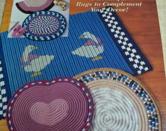 Easy Crochet Rugs - The Crochet Catalog - 5 Beautiful Rugs to Crochet - Round Rug, Goose Rug, Heart Rug, Rose Rug, Oval Rug