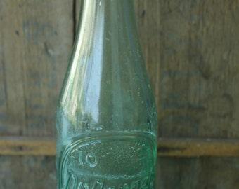 Vintage 1955 Dr. Pepper Soda Bottle Green Raleigh, NC
