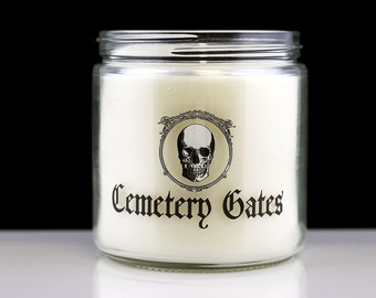 Large Cemetery Gates - Scented Candle - Goth Candle