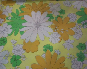 GROOVY TWIN SHEET Flat Mod Monticello Blossom Festival 2 Available Cannon Orange Gold Yellow Green
