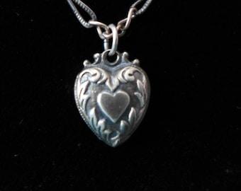 Tiny Victorian Heart Charm