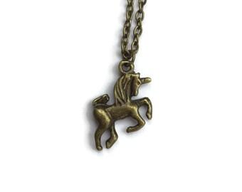Unicorn Vintage Gold Necklace
