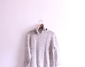 Speckled 80s Turtleneck Sweater