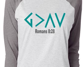 God Is Greater Than The Highs And Lows Shirt; Inspirational shirt; Romans 8:28; Christian Shirt; God Is Good