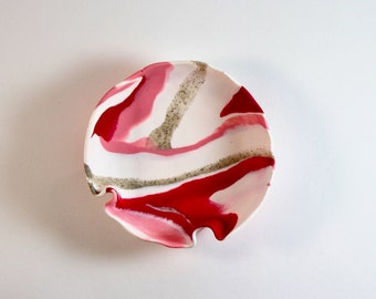 Pink Marble Clay Dish
