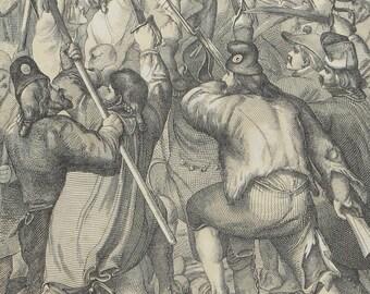Engraving 1860 Capture Of Bastille France From Memorabilien Gus Der Europaischen Geschichte Jos. Buelow - Free Shipping