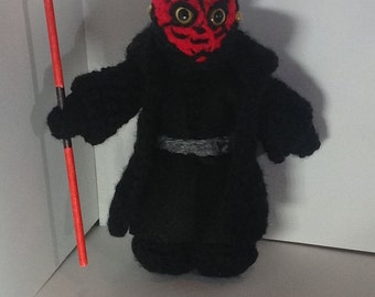 star wars crochet character - darth maul, princess leia in bikini or C3P0
