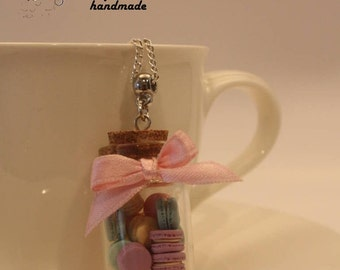 Jar of macarons necklace