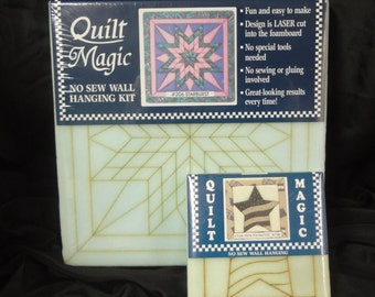 UNOPENED QUILT MAGIC  New, Unused, No Sew Wall Hanging Kit in Two Sizes