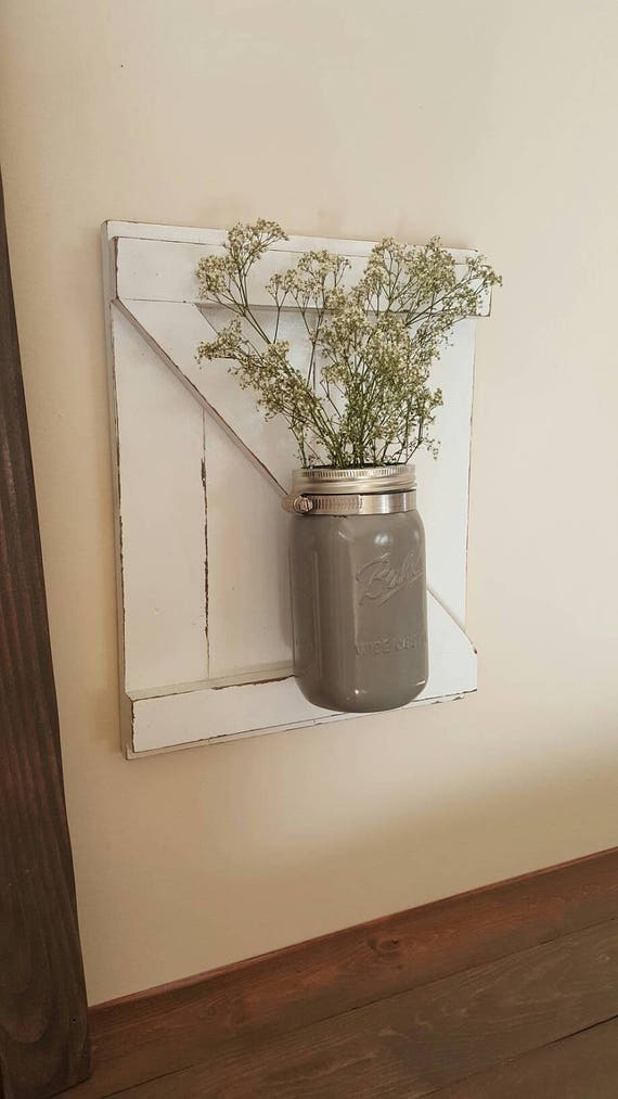 SALE!! Wall Sconce - Wall Decor - Mason Jar Wall Sconce