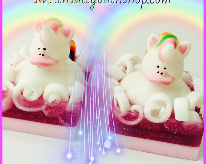 Shimmering Unicorn Kisses Rubber Ducky Scented Soap