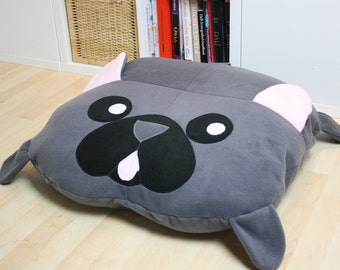 French Bulldog Pillow - Made to Order - Frenchie - Handmade - Fleece