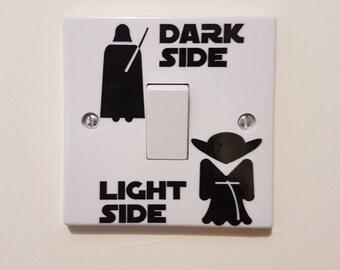 Star Wars Light Switch Sticker Set | Light / Dark Side