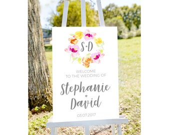 Wedding welcome sign, Welcome to wedding, wedding welcome, printable welcome sign, welcome to our wedding, floral wedding sign, printable
