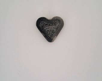 Concrete heart, hanging heart, wall decor, grey heart, Industrial, Decoration, wedding favour, anniversary gift