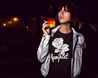 Floral Feminist Shirt, Rose Girl Power and Girl Gang shirt, *TOOWASTED ORIGINAL* Tumblr Fashion