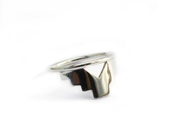 Geometric ring, minimalist ring, navajo, silver sterling, silver ring