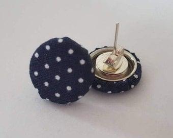 Ear plug points dark blue marine fabric