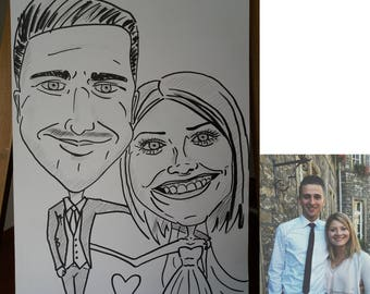Partner portrait caricature/cartoon
