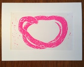 Snake block print - All proceeds to Red Warrior Camp at Standing Rock