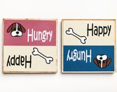 Dog Magnet, Pet Food Reminder, Puppy Feeding Chore, Feed The Dog, Dog Is Fed, Breakfast, Dinner