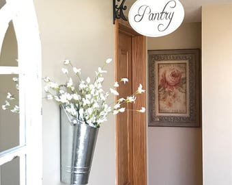 Pantry Sign, French Country, Farmhouse Sign, Kitchen Decor, Wood Sign