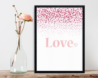 Love, Love Quote Print, Gift for Her, Wedding Gift, Love Print, Love Art Print, Instant Download, Printable Wall Decor, Bedroom Wall Art
