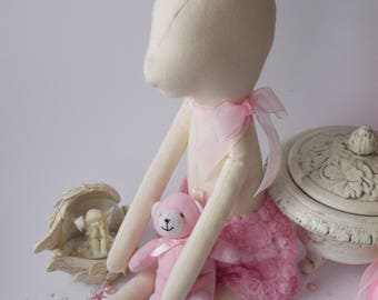 """PDF sewing pattern for Blank Fawn Doll  for crafting 21"""" (53 cm ) - DIY tutorial- ready to print for cloth doll body"""