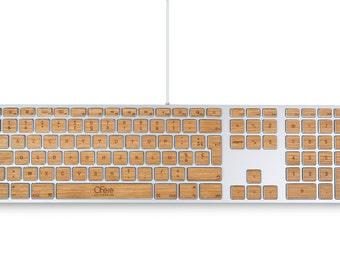 Stickers wood Oak - Apple wired keyboard