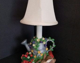Vintage Lamp, Garden Animal Lamp, Small Accent Lamp,  Nursery Lamp, Baby Shower Gift, Garden Lamp, Vintage Gift, Gift Giving