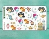 32 Aladdin Stickers / Erin Condren Planner Stickers / Decorative Stickers