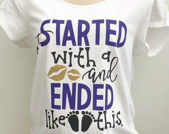 Fun Maternity T-shirt, Pregnancy Top, Baby Shower Gift, Wife Gift, Pregnancy Announcment, UK