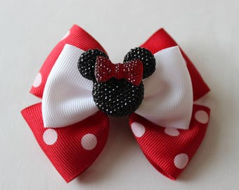 Minnie Mouse Red Inspired Bow
