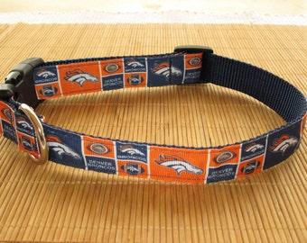 Large Denver Broncos Collar or Leash