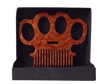 Brass Knuckles High Gloss Beard Comb