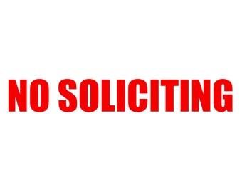 No Soliciting Vinyl Etsy