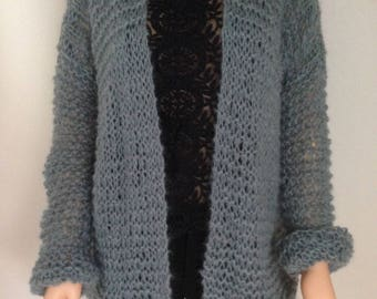 Hand knitted oversized Cardigan