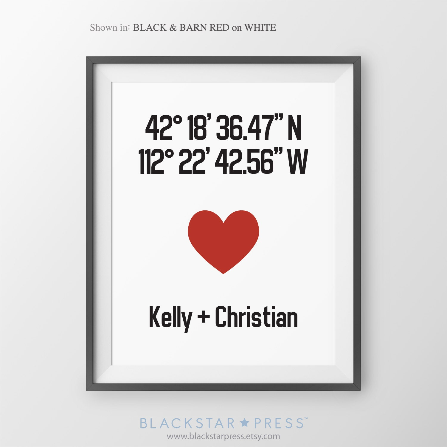 Gps Coordinates Gift For Couple New Home Gift Housewarming