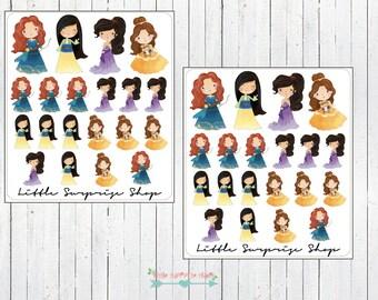 Kawaii Princess #4 Stickers // KC017