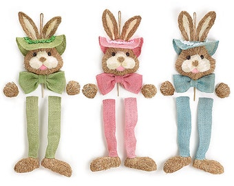 burton + Burton BUNNY HEAD KIT- Set of 3 /Wreath Supplies/Easter Decor/Easter Bunny Wreath Enhancement/9724550