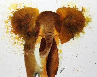 Elephant in Watercolor
