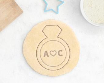 Bague de fiançailles sur mesure Cookie Cutter - mariage personnalisé Cookie Cutter amour Cookie Cutter diamant bague Saint Valentin - 3D imprimé